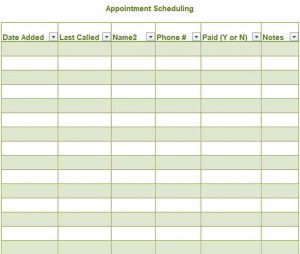 Appointment Scheduling Template