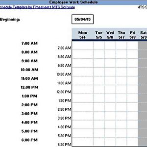 Sample Shift Schedule