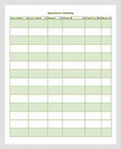 Template Appointment Scheduling Template Free Download