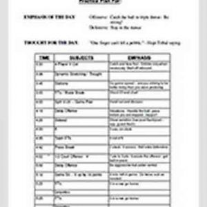 Template Basketball Practice Schedule Template Free PDF Download 1