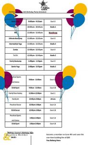 Template Birthday Party Schedule Template