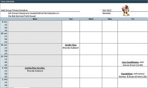 Template Blank Class Schedule Template Excel