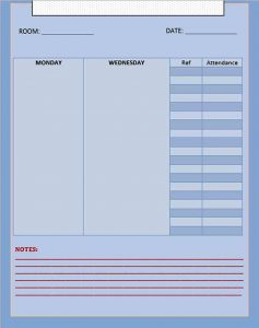Template Blank Meeting Schedule Template Free Download