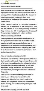 Template Cleaning Schedule Kitchen Free PDF Format Template