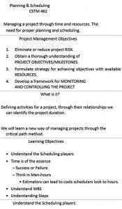 Template Construction Project Planing and Scheduling