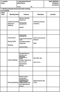 Template Daily Meeting Schedule Template PDF Format