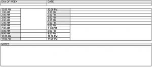 Template Daily Nurse Schedule Template Free Word Doc