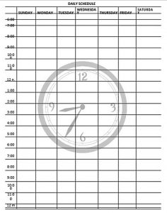 Template Daily Schedule Template Free PDF Format Download