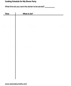 Template Dinner Party Schedule Template