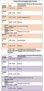 Template Editable Student Daily Schedule