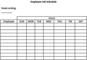 Template Employee Job