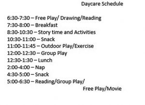 Template Example of Daycare
