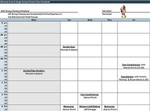 Template Excel College Class Schedule Template