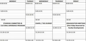 Template Excel Weekly Class Schedule Template