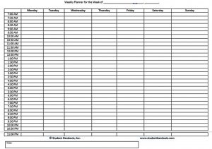 Template Family Schedule Daily Weekly Hourly Planner Template Word Doc