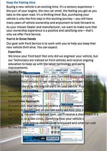 Template Ford Maintenance Schedule PDF Template Free Download