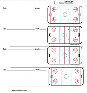 Template Free Hockey Practice Schedule Template PDF
