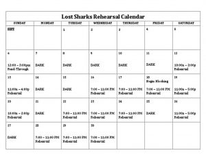 Template Lost Sharks Rehearsal Schedule Template Word Doc