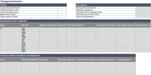 Template Monthly Amortization Schedule Excel Template Excel Format Download