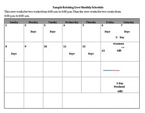 Template Monthly Schedule