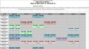 Template Monthly Shift Schedule Calendar Template
