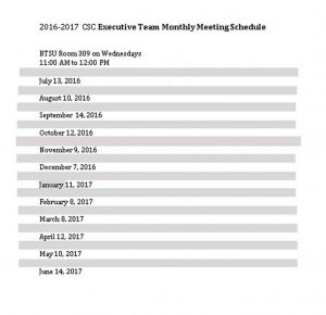 Template Monthly Team Schedule