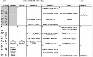 Template Monthly Work Schedule Template