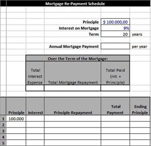 Template Mortgage Re Payment Schedule in Excel