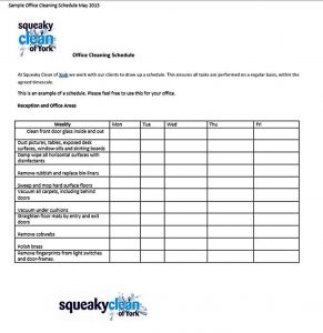 Template Office Bathroom Cleaning Schedule
