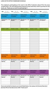 Template Office Lunch Schedule Template