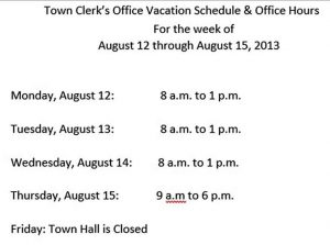Template Office Vacation Schedule Template