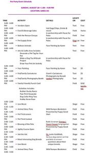 Template Party Event Schedule Template