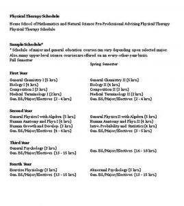 Template Physical Therapy Schedule Template