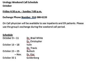 Template Physician On Call Schedule Template