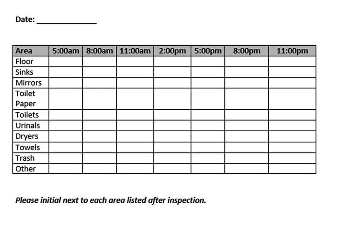 Bathroom Cleaning Schedule Template   think moldova