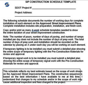 Template SIP Construction Schedule Template Free PDF Format