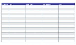 Template Sports Snack Schedule Template 1
