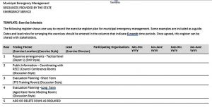 Template State Emergency Service Excercise Schedule Free Download