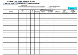 Template Straight Line Depreciation Schedule Template