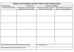 Template Student Weekly Report Format