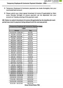 Template Temporary Contract Payment Schedule Template