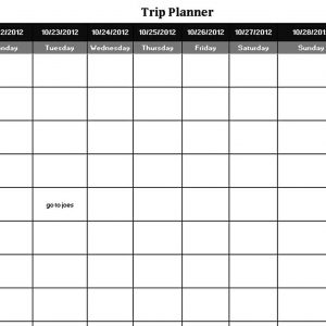 Template Vacation Trip Planning Schedule Template