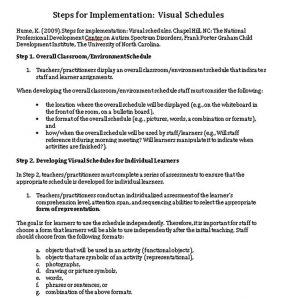 Template Visual Schedule Implementation Guide