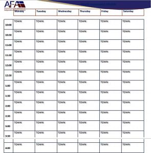 Template Weekly Appointment Schedule Printable