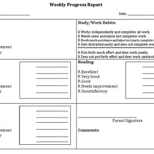 Template Weekly Student Behavior Report Template