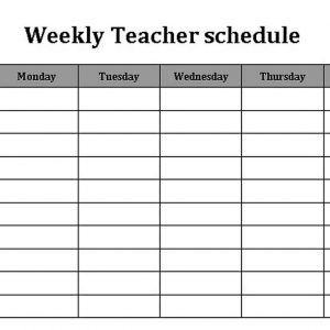 Template Weekly Teacher Schedule Template Word Format