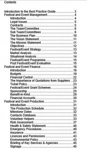Template event production schedule in PDF