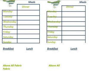 Template meal plan