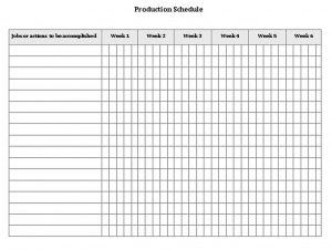 Template production schedule template