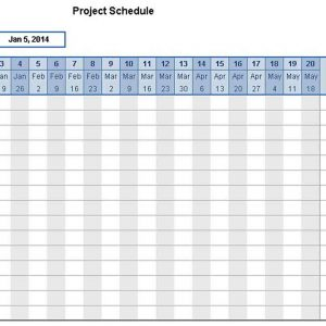Template project schedule template